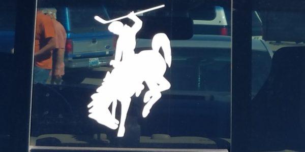 CowboyHockeyWindowDecal